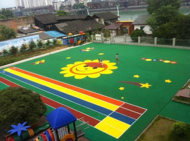 杭州幼儿园塑胶地面